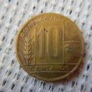 ARGENTINA COIN 10 CENTAVOS 1949 ALUMINIUM BRONZE