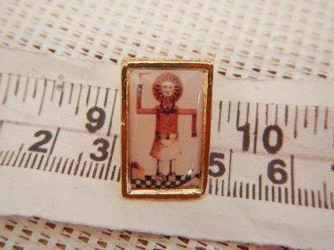 Masonic Freemasonry Mason Walking Sun Symbol Shield Emblem Pin