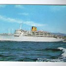 Enrico C Liner Cruise Ship Freighter Marine Shipping Vintage Postcard