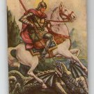 Argentina St George Jorge & Dragon  Vintage Holy  Card