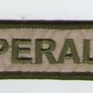 Argentina Army Name Tag Nametag Peralta  Patch
