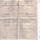 Argentina Original 1950 Postal Telegram San Martin Year #6