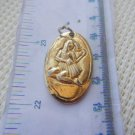 Necklace  Pendant Gilded Lovely Woman  VINTAGE