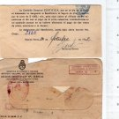 Argentiina 1952 Life Insurance Certificate with Envelope RARE