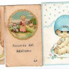 Argentina Children  Angel Baptism Christian Religion Holy Card LOT OF 3 Cards