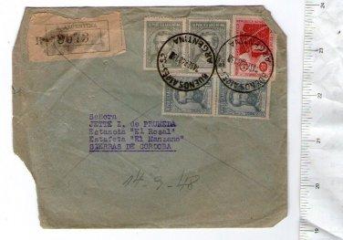 Argentina  Envelope  Cover & STAMPS c 1948
