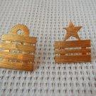 Argentina Navy Collar Emblem Badge Insignia Pin LOT OF 2 #4