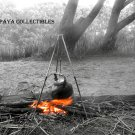 Campfire PHOTOGRAPH WALL ART Poster Print  BW Photo 30 x 45 cm SIGNED By G Schek
