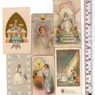 Argentina Children Boy Girl Angel Comunion Christian Holy Card LOT OF 6 Cards