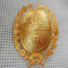 Argentina Patagonia Santa Cruz Province Police Hat  Badge Shield VINTAGE