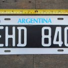 Argentina Collectible Car  License Plate EXPIRED #3