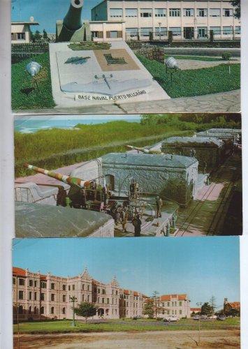 Argentina Military Belgrano Facility Photo Postcard 3PC