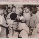Wallace Beery & Chinese Children Metro Goldwyn Mayer Movie Photo