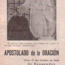 VINTAGE Jesus Christ Prayer Apostle Argentina Holy Card