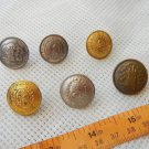 Argentina Police Uniform Button Lot of 6 Buttons