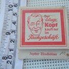 Vintage German Zackgeschaft Advertising Jupiter Matchbook Matchbox