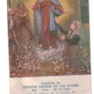 VINTAGE Virgin Mary of Flowers Argentina Holy Card