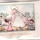 VINTAGE Virgin Mary & Children Argentina Holy Card
