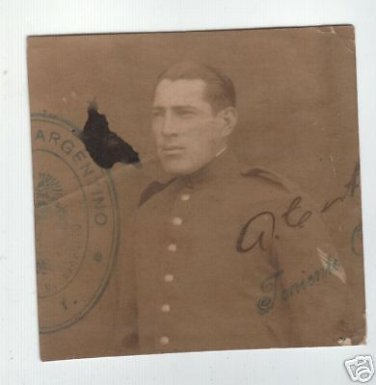 Argentina Army Soldier Passport Size WWII Photo SEALED
