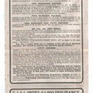 T J & J Smith´s 1914 Insurance Application Print Coupon