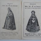 Argentina  Virgin Mary of The Pains Holy Card  2 CARDS  VINTAGE