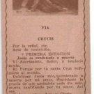 Jesus Christ Via Crucis Easter Holy Card Print OLD