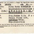 Argentina German Post WW2 Help Support Shipping Invoice #7