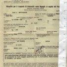 Italia Augustus Ship Cruise Merchant Car Export Invoice Doument 1966