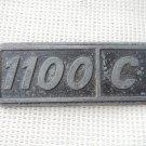 Argentina Fiat 1100 Plate Badge Circa 1960 ORIGINAL PART