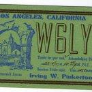 QSL Card USA Los Angeles California Radio W6LY Dated 1937