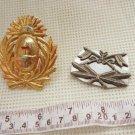 Argentina Army Visor Hat & Cavalry  Badge Emblem Pin LOT OF 2
