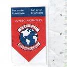 Argentina Unused International Parcel Express Mail Stamp Label