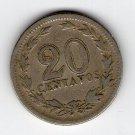 Argentina 20 Centavos 1921  NICE COIN