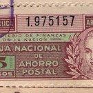 Argentina Eva Peron EVITA Saving 1945  REVENUE STAMP NOT POSTAL 5 Pesos