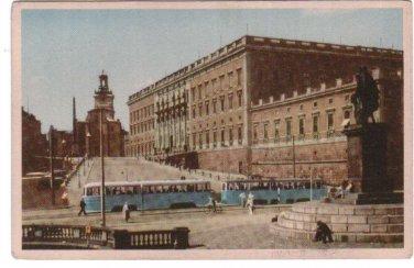Stockholm Sweden Kungl Slottet Postcard VINTAGE