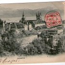 Lausanne Switzerland Town View Postcard VERY OLD