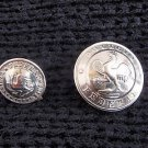 Argentina Police Policia Federal Button 2 Buttons OLD