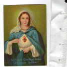 Argentina Virgin Mary Consecration  Holy Card SACRED HEART INT´L FOUNDATION