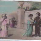 Greetings Little Boy Baby Girl Children Postcard OLD