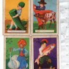 VINTAGE Kitchen Cooking Recipe Spain España Picture Trading Card 4 Cards c1935 2