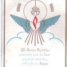 Vintage Holy Spirit Jesus Christ  Holy Card