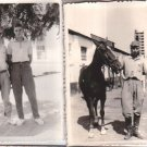 Argentina Army CIRCA 1950 German Look CAVALRY HORSE Soldiers Photo SET OF 2