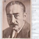 VINTAGE Adolphe Menjou Photo Movie Actor Uruguay Picture Trading Card c1935