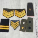 Argentina Army Air Force  Police Epaulette Rank Patches & Boards  BUNDLE OF 7