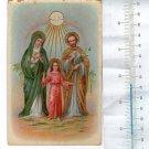 VINTAGE Jesus Christ  Virgin Mary Joseph Trinity Postcard