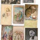 Vintage Christian Religion Jesus Christ Comunion Holy Card LOT OF 8