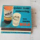 Vintage Bols Genever Argentina Distillery Advertising Matchbook Matchbox
