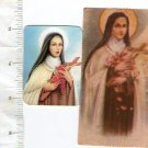 Vintage Christian Religion St Therese Teresa Teresita Holy Card LOT OF 2