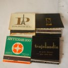 Vintage Argentina Advertising Matchbook Matchbox SET OF 4 #2