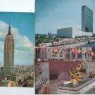 New York Empire State UN Rockefeller Postcard SET OF 3